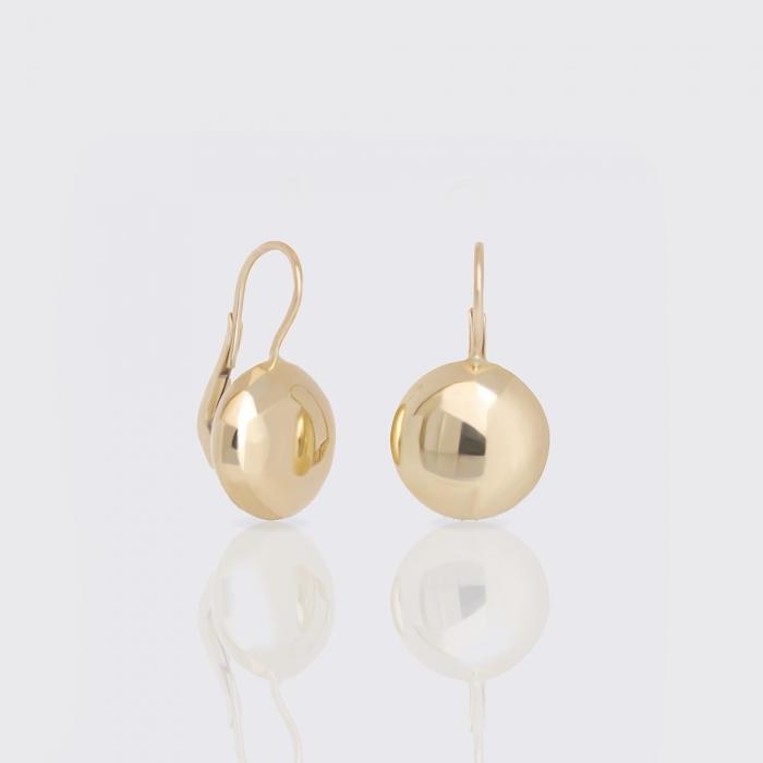 Ohrhänger - Coin, Gelbgold
