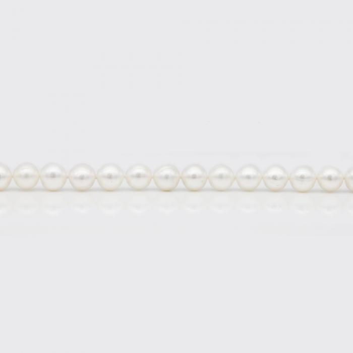 Halskette - weiße Süßwasserperlen (8 mm)