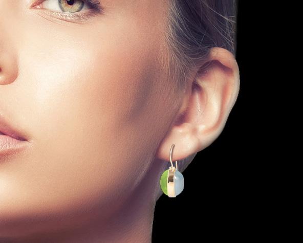 Ohrhänger - Peridot, Aquamarin