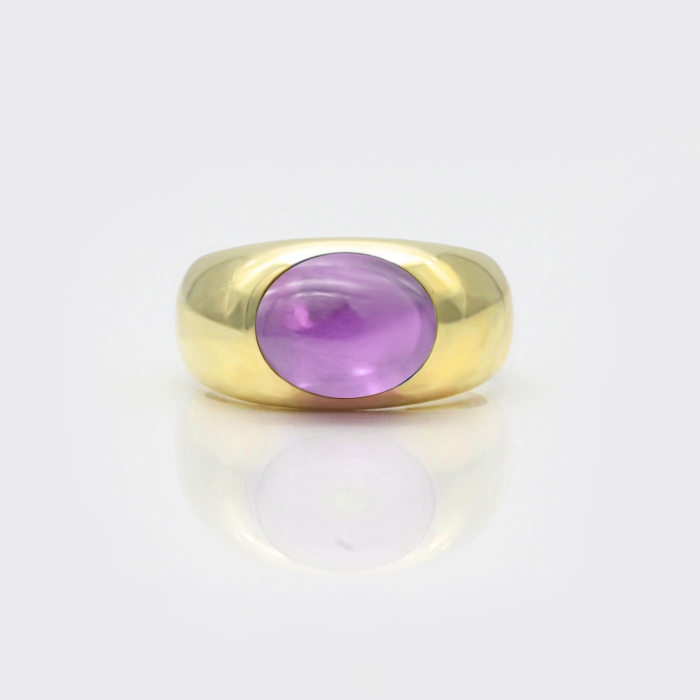 Soulring No. I - Amethyst hell, Gelbgold