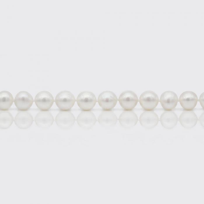 Halskette - weiße Süßwasserperlen (10 mm)