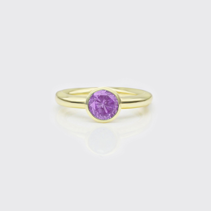 Ring - Amethyst Solitaire