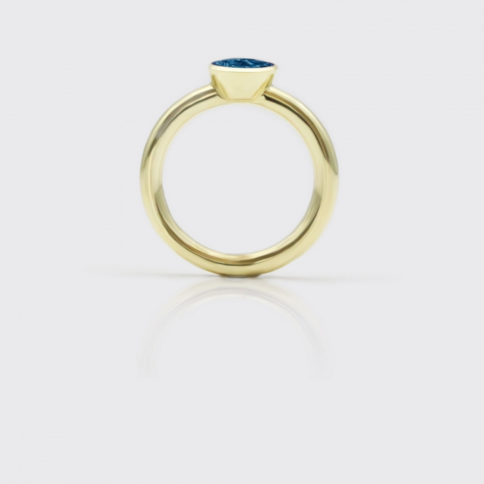 Ring - Londontopas Solitaire