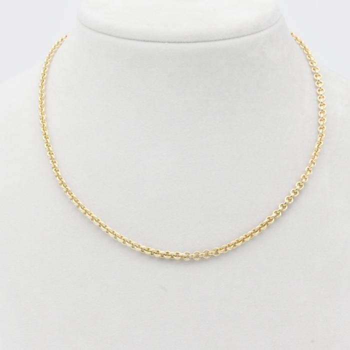 Halskette - Erbskette Gelbgold breit