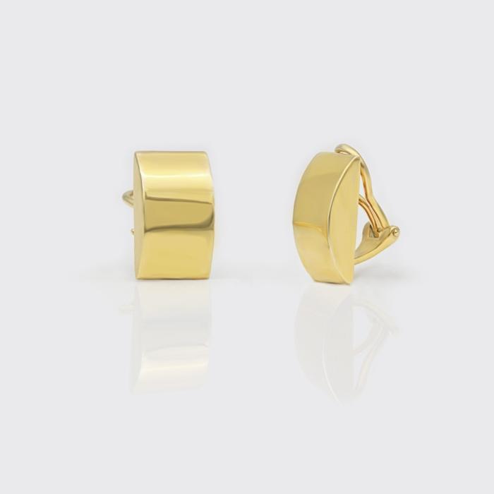 Ohrclip - rechteckig, gold