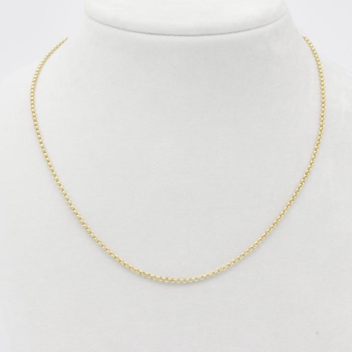 Halskette - Erbskette Gelbgold mittel