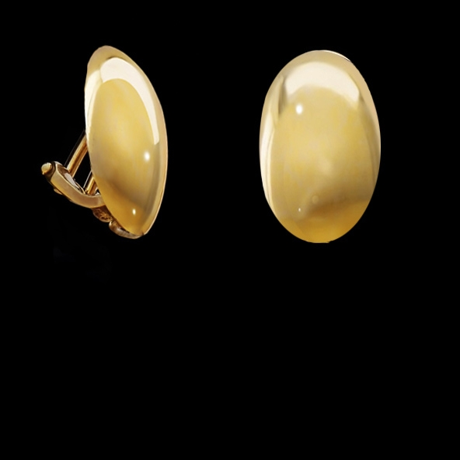 Ohrclip - oval, gold