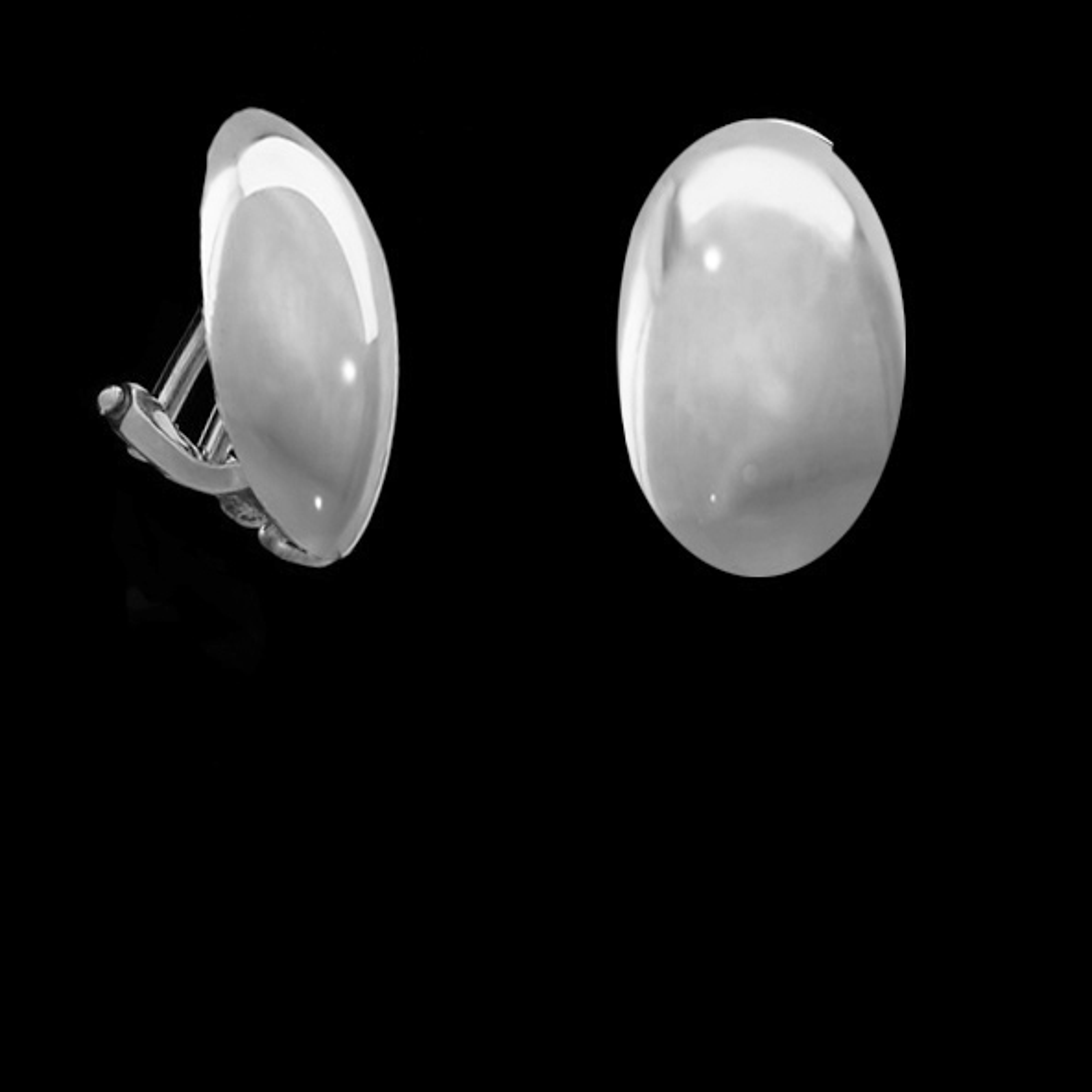 Ohrclip - oval, silber