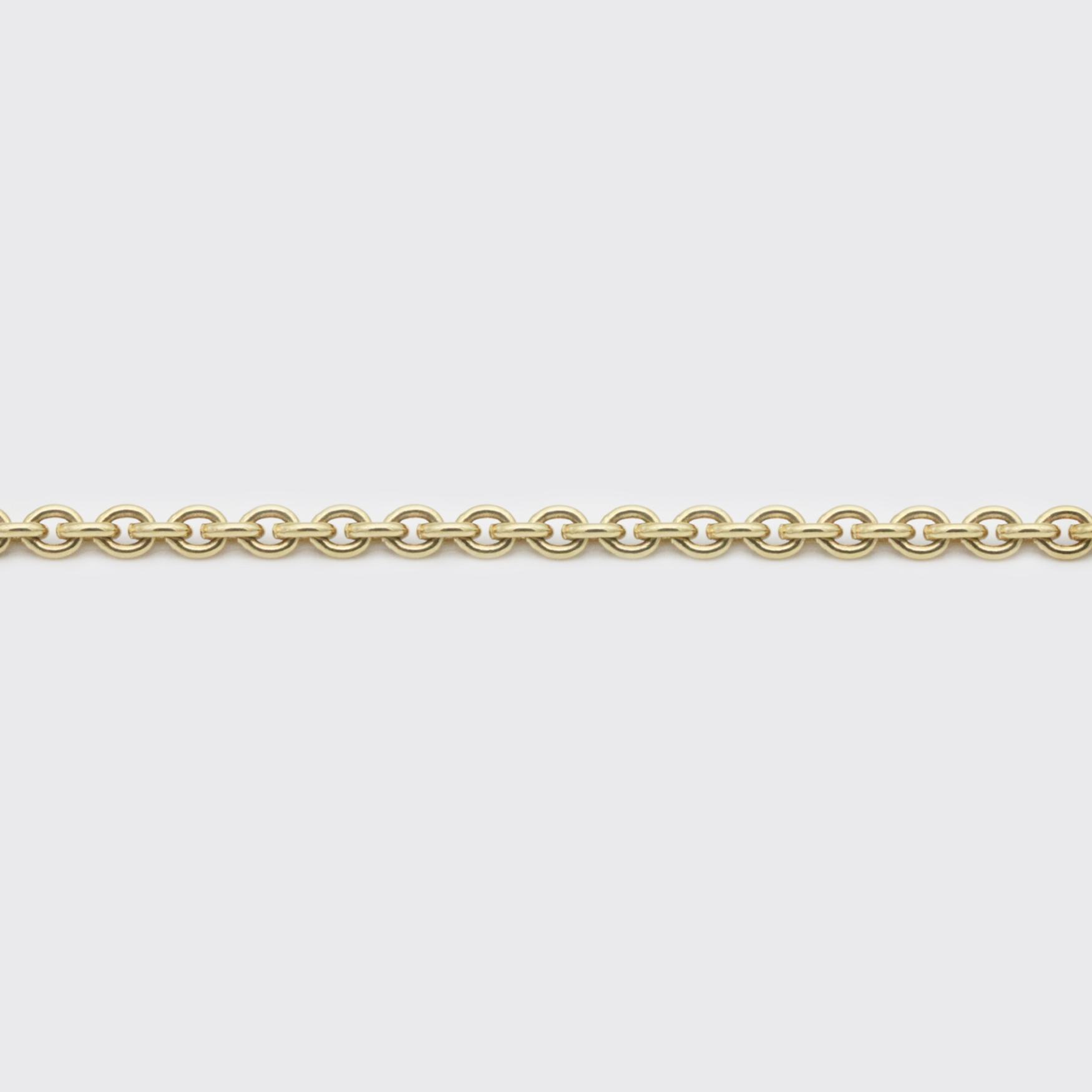 Halskette - Ankerkette Gelbgold breit