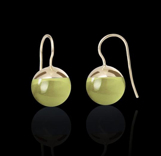 Ohrhänger - Boule Lemonquarz