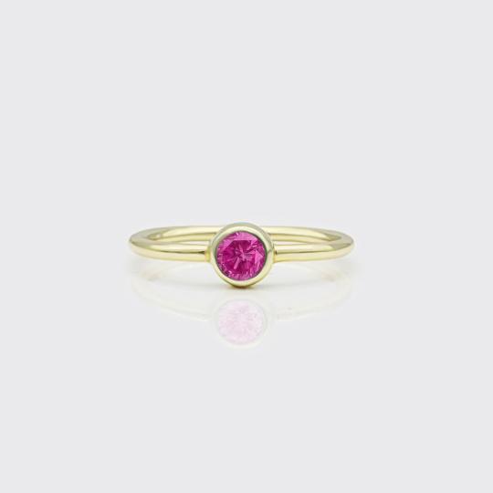Zierring - Turmalin pink
