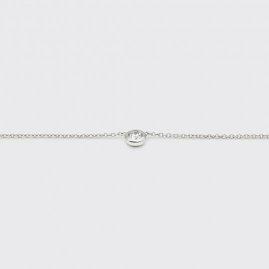 Halskette - Weißgold, Brillant (0,15 ct.)