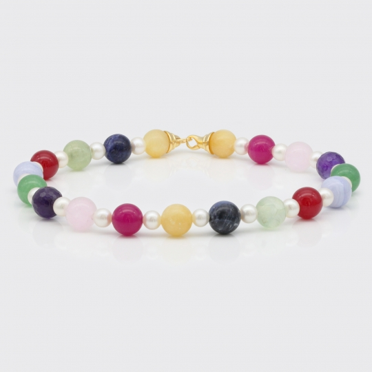 Halskette - Edelsteine, Perlen