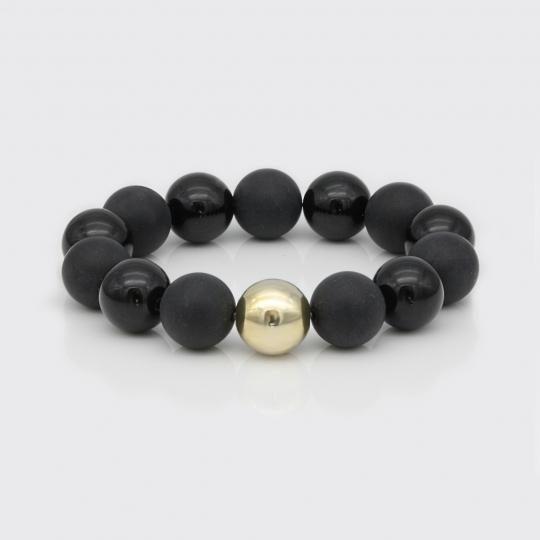 Armband - Onyx matt und glatt