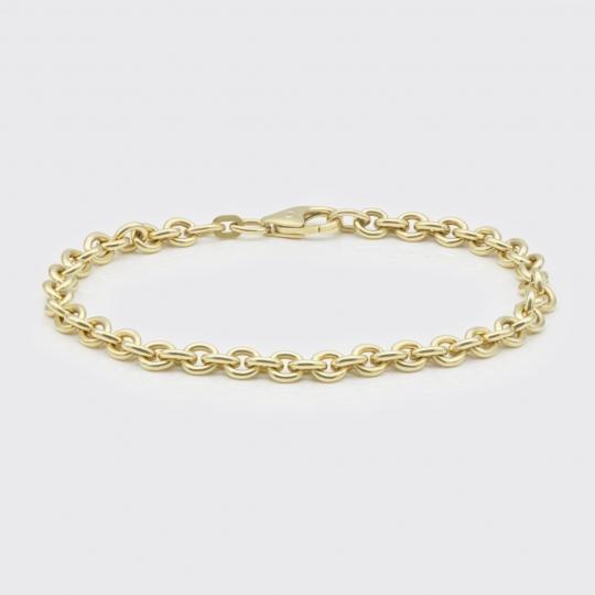 Armband - Gelbgoldkugeln