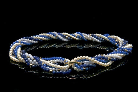 Vario-Collier - blau-weiß