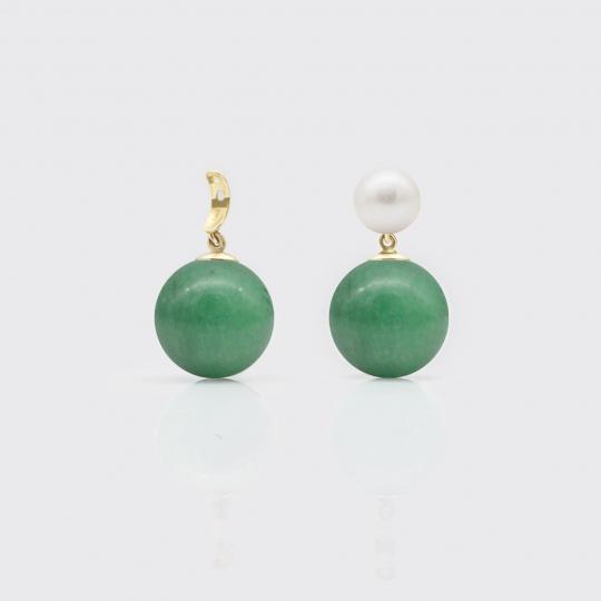 Bommel - grüne Jade