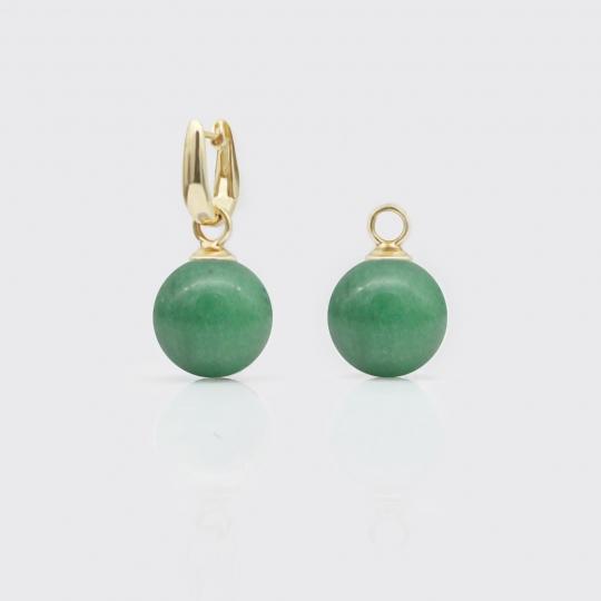 Einhänger - grüne Jade