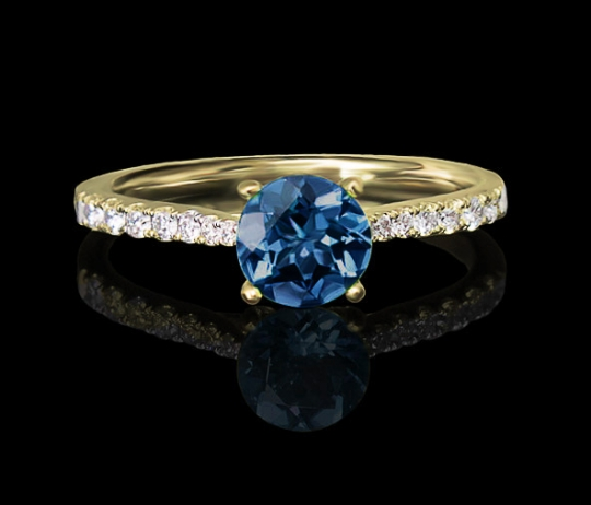 Brillantring - Memoire, Mittelstein (0,3ct.)
