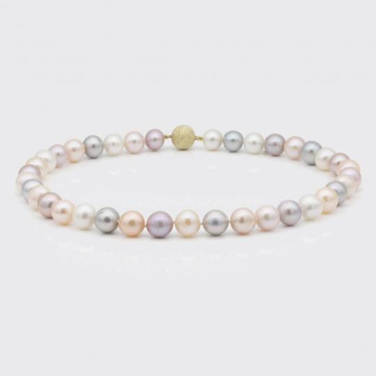 Halskette - multicolor Süßwasserperlen