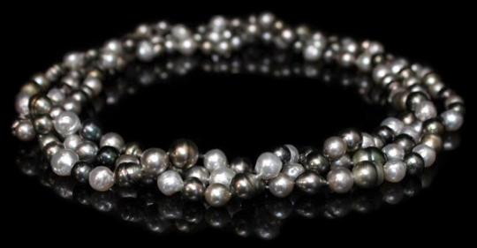 Halskette - barocke Südsee- und Tahitiperlen