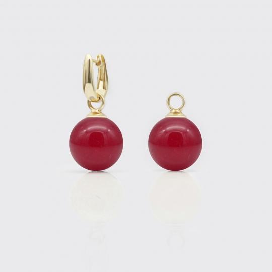 Einhänger - rote Jade