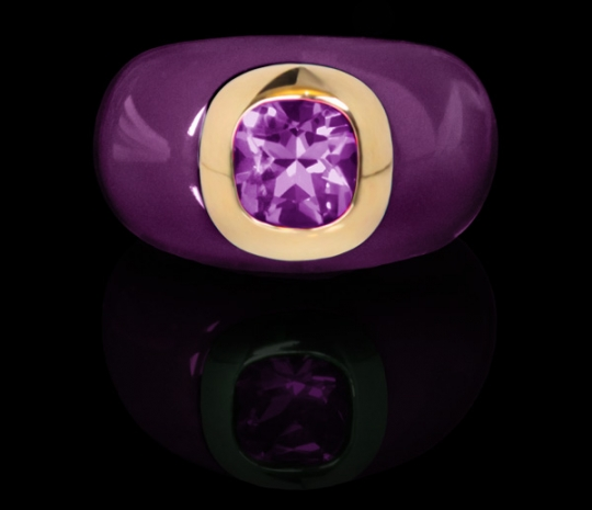 Ring Resin - Aubergine, Améthyste