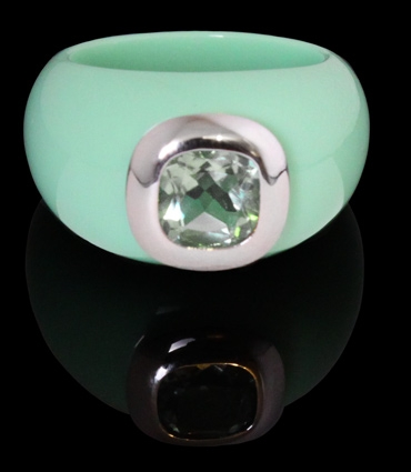Ring Resin - Menthe, Prasiolite