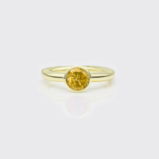 Ring - Citrin Solitaire