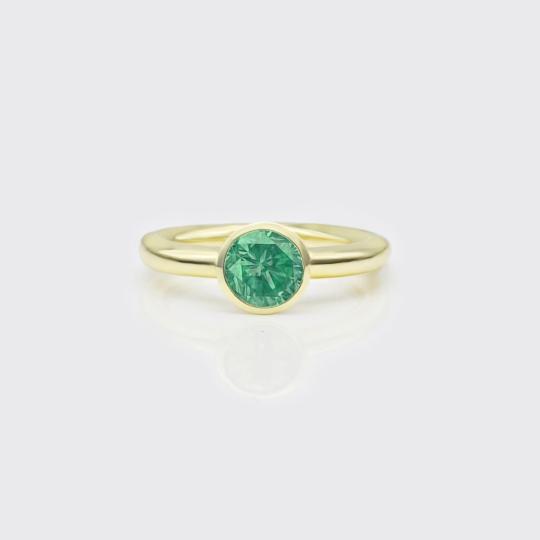 Ring - grüner Turmalin Solitaire