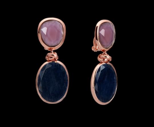 Clipstecker klein - heller Amethyst, blauer Aventurin