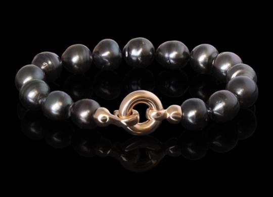 Armband - Tahitiperle, Gelbgold