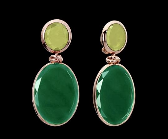 Clipstecker groß - Jade, grüner Achat