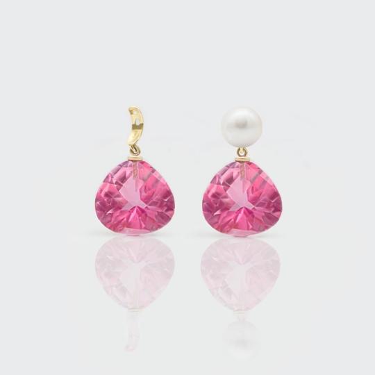 Einhänger - pink Topase