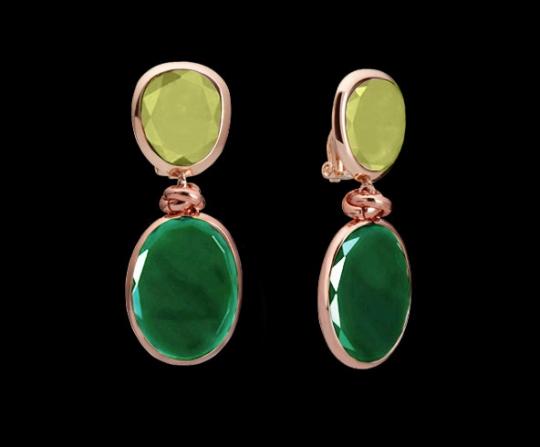 Clipstecker klein - Jade, grüner Achat