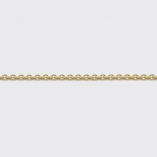Halskette - Ankerkette Gelbgold mittel