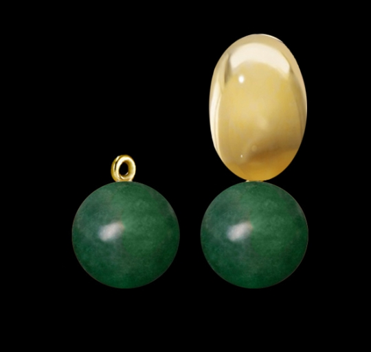 Clip-Einhänger - Grüne Jade
