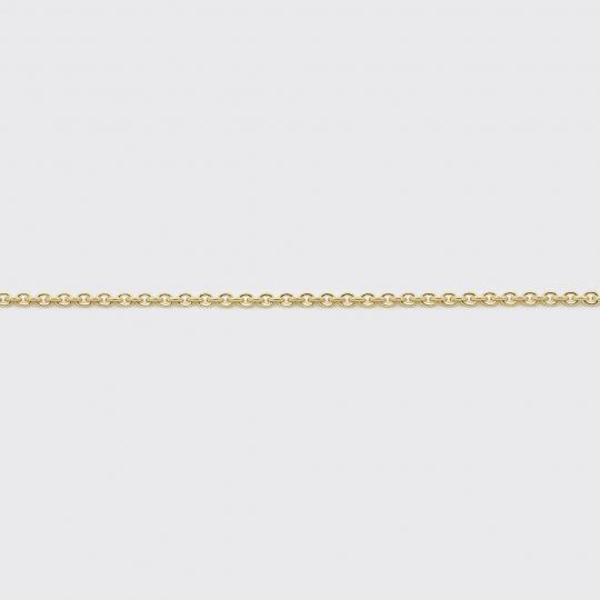 Halskette - Ankerkette Weißgold mittel