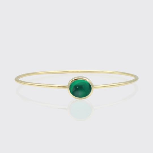 Goldarmreif - grüner Turmalin