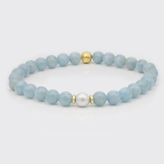 Halskette - Rubine, Gelbgold