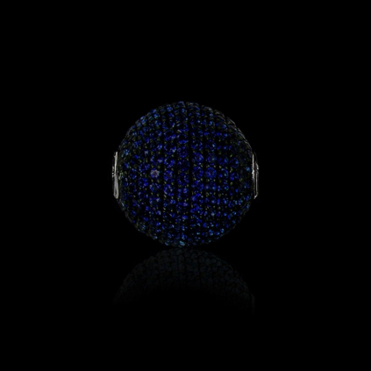 Wechselschließe - dunkelblaue Zirkone
