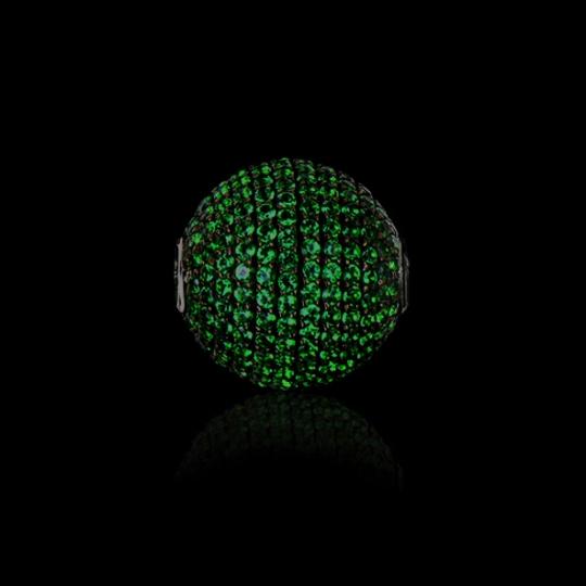 Wechselschließe - dunkelgrüne Zirkone